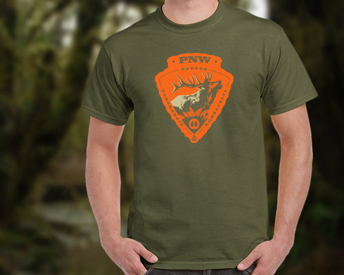 Roosevelt Elk Arrowhead T-Shirt - Men's