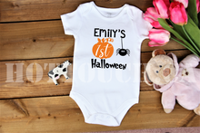 Load image into Gallery viewer, Baby's First Halloween Onesie, My First Halloween, Pumpkin Halloween tshirt HW-KD-3