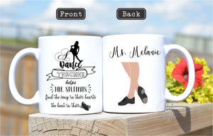 Dance teacher gift,Tap Dance teacher,Tap Dance instructor gift,teacher appreciation gift,end of year gift,teacher coffee mug,dance OC-TCD-02