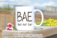 Load image into Gallery viewer, Auntie Mug,Best Aunt Ever,Bae Best Aunt Ever,Gift for Auntie,Aunt Gift,Bae mug Best Aunt Ever,Best Aunt Ever Mug,New Auntie gift FM-AU-03