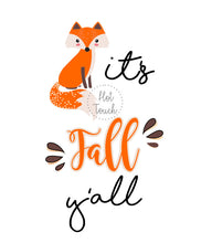 Load image into Gallery viewer, It's fall y'all,it's fall y'all water bottle,Happy Fall y'all,fox design,fall fox,Fall design,Happy Fall bottle,Happy Fall coffee FL-FL-001