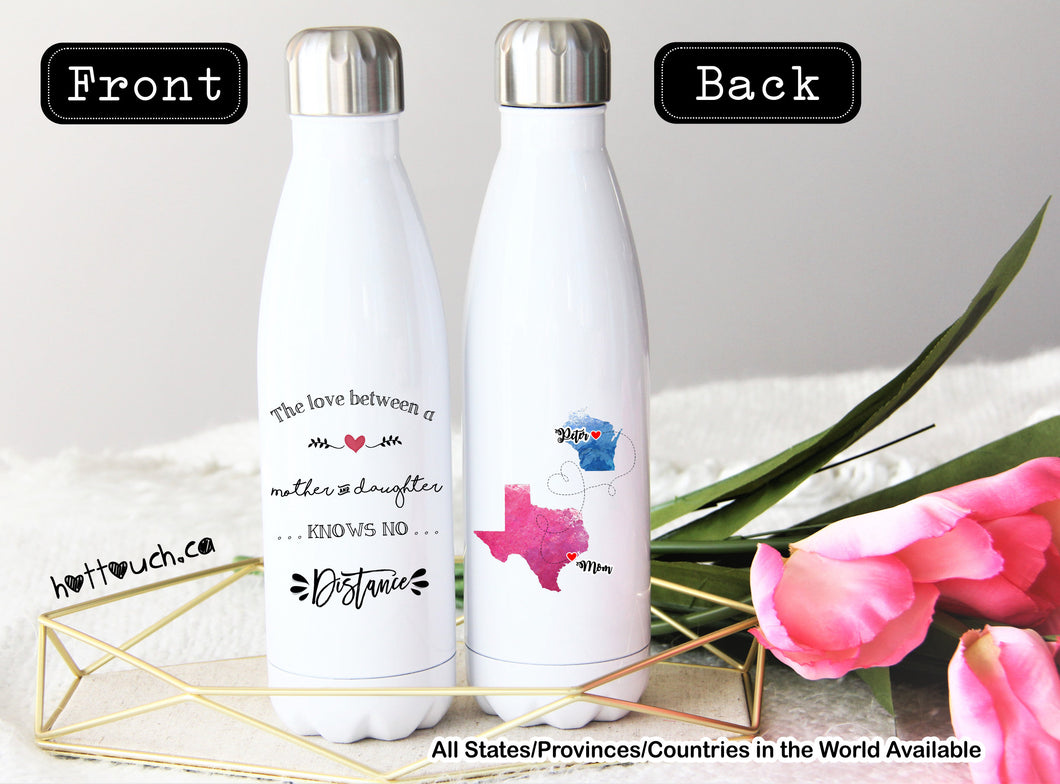 Long Distance Gift for Mom,Swell style bottle,Gift for Mom,Mother and daughter gift,Moving away from Mom gift,Mothers Day,mom  LD-MD-007