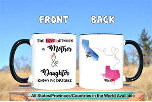 Moving away for mom,Long distance mom mug,mom and daughter,mom long distance,long distance daughter gift for mom,moving states mug LD-MD-01