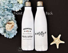 Load image into Gallery viewer, S'well Style bottle,Funny midwife gift,Midwife appreciation gift,Midwife,stainless steel water bottle,Gift for Midwife,doula gift OC-MW-007