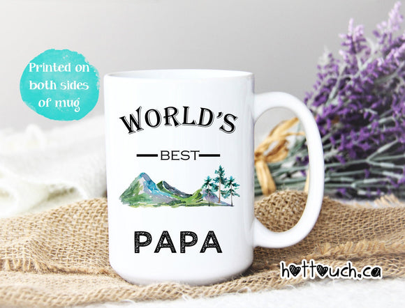 World's best Papa,Grandpa Mug,gift for dad,Pop mug,Best Papa ever,Christmas gift for Dad,Grandpa,Fathers Day Mug,Fathers Day gift FM-GP-10