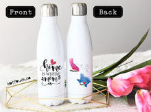 Load image into Gallery viewer, Long Distance Mom Gift,Swell style bottle,Home is where Mom is,Mom,Mom Christmas Gift,Custom Swell bottle,Mothers Day Gift,Mom  LD-MO-05