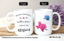 Load image into Gallery viewer, Mother and Son mug,Long distance mug for mom from son,Gift for Mom,The love between mother and son,mug,Distance relationship,Mom mug LD-MS-2