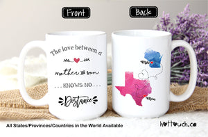 Mother and Son mug,Long distance mug for mom from son,Gift for Mom,The love between mother and son,mug,Distance relationship,Mom mug LD-MS-2