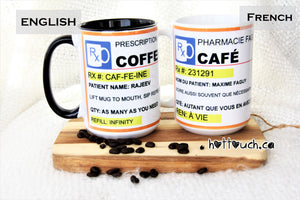 Personalized Coffee Mug,Coffee Lovers Mug,Coffee Mug,Coffee Prescription,Coffee Prescription,Gift for Coffee lover,Funny Coffee Mug CF-PR-1