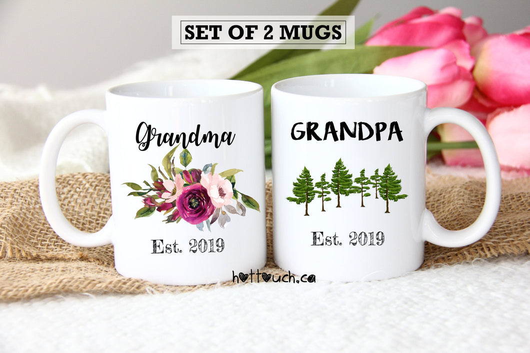 Grandparents Mugs,Pregnancy Reveal to Grandparents,Pregnancy Announcement Grandparents,New Grandparents,mugs,Future Grandparent FM-GG-001