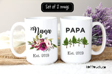 Load image into Gallery viewer, Nana Papa Gift,Grandparents announcement,Baby Reveal Gifts,Pregnancy announcement,papa gift,Nana gift,pregnancy reveal,custom mug FM-GG-002