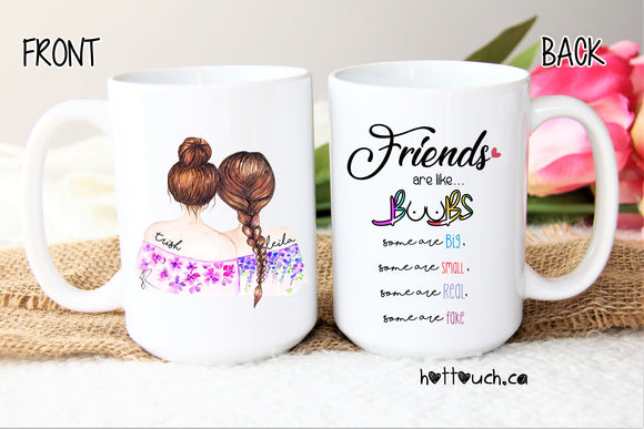 Bestie mug,Bestie gift,Funny BFF mug,Friends are like Boobs,Friends forever gift,bff mug,bridesmaid mug,personalized bff mug,mugs FR-FF-04