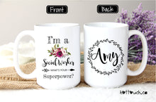 Load image into Gallery viewer, Social Worker Mug,Social Worker gift,Social worker graduation mug,Graduation gift,New Social Worker mug,Social Worker superpower,mug OC-SW-1