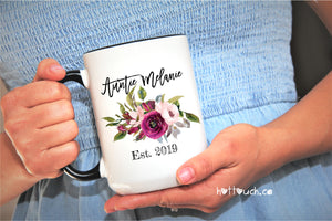 Auntie Mug,Baby Reveal Auntie,Pregnancy Reveal Sister,Sisters To Aunt Mug,sister promoted,Aunt to be,New Aunt mug,surprise mug aunt FM-AU-6