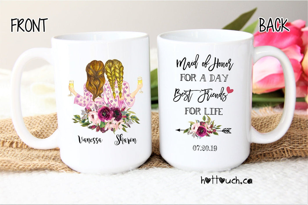 Maid of Honor gift,Maid of Honor proposal,Maid of Honor mug,bridal party,wedding mug,bridal gift,gift for her,Bestie mug,Best friend WD-BM-9
