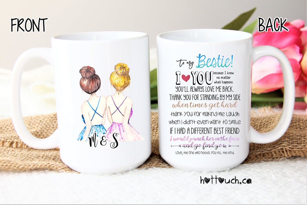 Bestie mug,Gift for Bestie,funny best friend mug,custom name mug,You're my person,best friend gift,mug for her,soul sisters mug,bff FR-BF-6