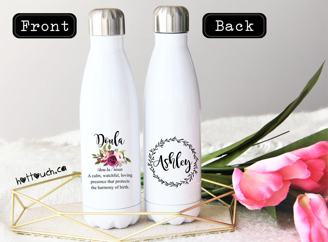 Doula swell bottle,Doula gift,Doula quote gift,Swell bottle,Thank you Doula,stainless steel water bottle,Gift for Doula,Midwife gift OC-DL-6