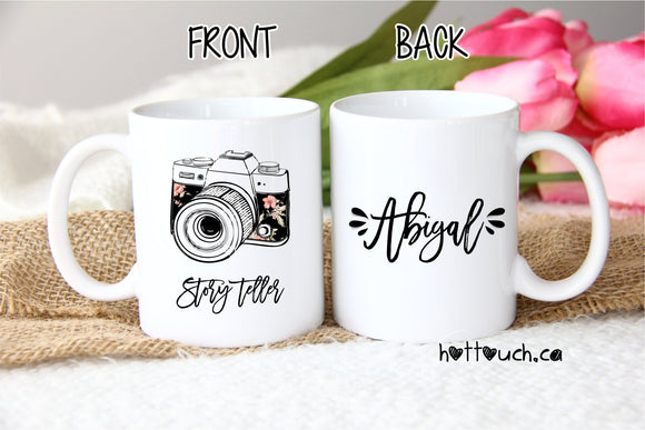 Photographer Gift,Story Teller,Photographer mug,Gift for Wedding Photographer,Gift Idea for Photographer,Thank you Gift Photographer OC-PG-2