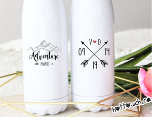 Adventure awaits bottles,Camping gifts,Anniversary gift,Outdoor gift,Valentine gift NT-CMP-2
