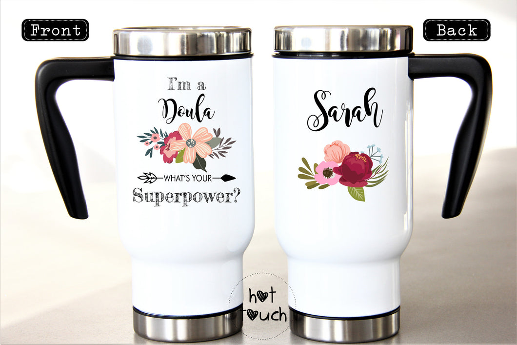 I'm a Doula what's your superpower,Funny Doula mug,Doula gift,Thank you Doula,Graduation gift,Doula graduation,Doula coffee mug OC-DL-002