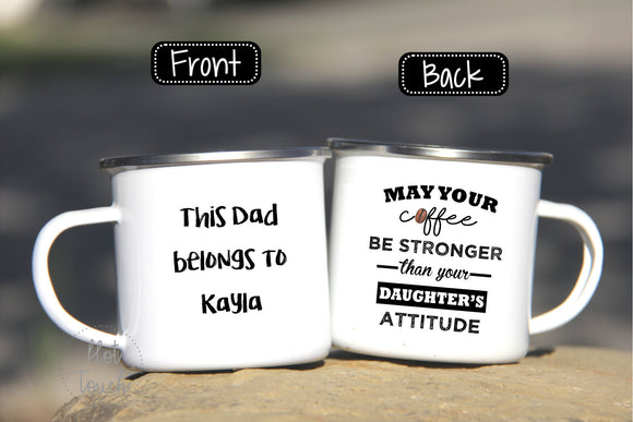 Father's Day mug,Camper mug for Dad,Toddler's Dad gift,Dad of Girl gift,Funny coffee mug Dad,Father's Day gift idea,camper gift FM-DA-15