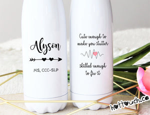 speech language pathologist gift,Speech Therapist gift,Swell style bottle,SLP appreciation gift,Personalized Speech Pathologist OC-SPL-03