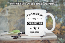 Load image into Gallery viewer, Promoted to Grandpa,Grandpa to be Gift,New Grandpa Gift,Pregnancy Announcement Gift,Gift for Grandpa,Baby Reveal gift,Grandpa mug FM-GP-001