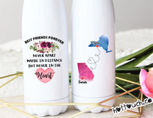 Load image into Gallery viewer, Bestie long distance gift,Best Friends forever never apart,swell style bottle,Best friends LD-FF-1