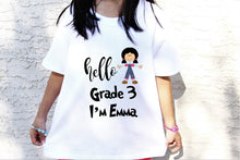 Load image into Gallery viewer, Hello Kindergarten shirt,First day of school,Kindergartener TEE,Back to school shirt,Announcement Kindergarten tee,kindergarten tee KD-SCL-2