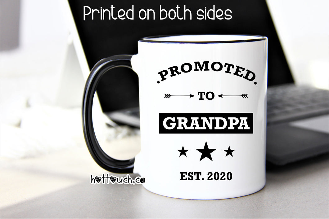 Promoted to Grandpa,Grandpa to be Gift,New Grandpa Gift,Pregnancy Announcement Gift,Gift for Grandpa,Baby Reveal gift,Grandpa mug FM-GP-001