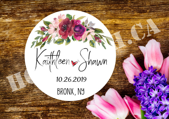 Personalized Wedding stickers,Wedding Favor labels,Custom Wedding label,Wedding thank you sticker,calligraphy wedding stickers WD-BG-20