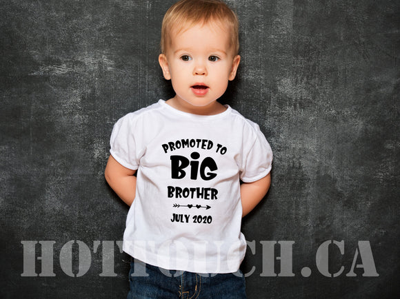 Promoted to big brother tshirt,Pregnancy announcement,baby reveal,baby announchment tshirt,New baby reveal,Toddler tshirts,baby tee FM-BR-1