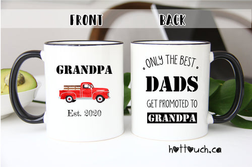 Grandpa mug,Pregnancy Announcement Gift,Gift for Grandpa,Baby Reveal gift,Grandpa gift,Only the best dads get promoted to Grandpa FM-GP-4