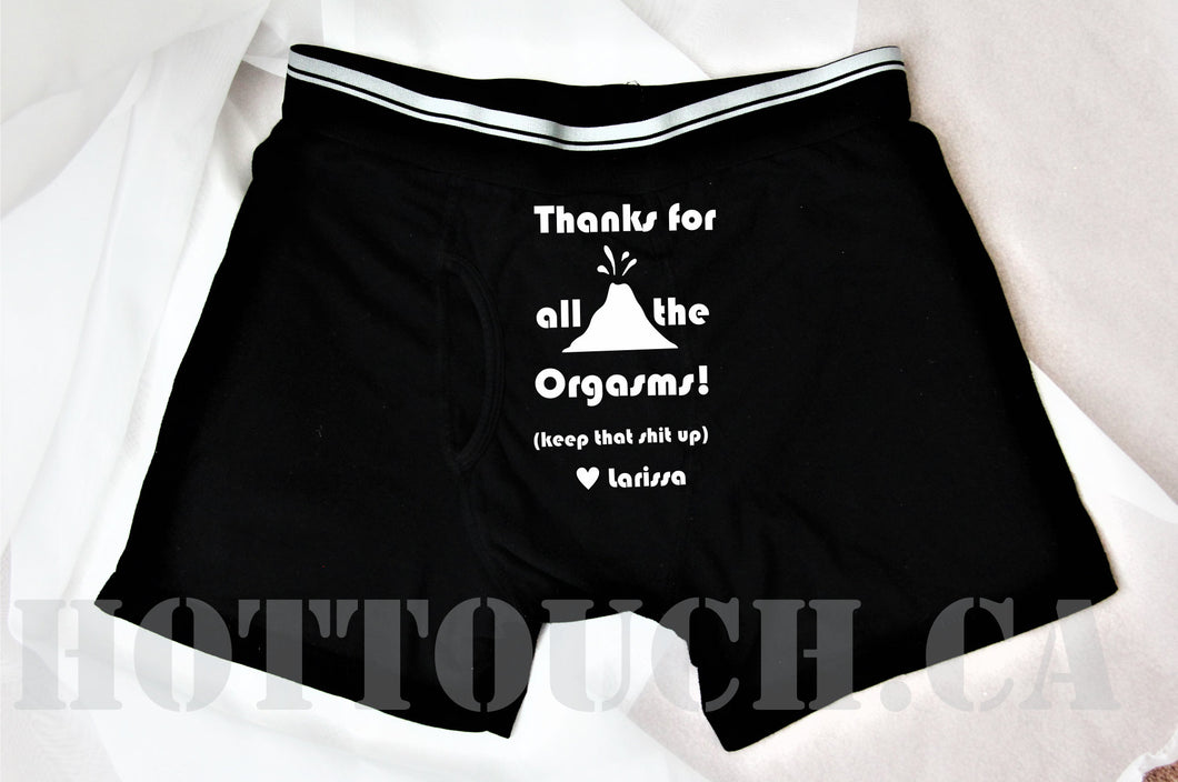 Thanks for all the orgasms,Valentines Day Gift for Him,Personalized Boxers Shorts,Naughty Husband Boyfriend anniversary,Gay Couples CP-FY-10
