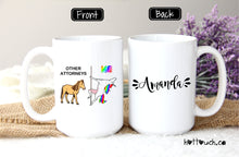 Load image into Gallery viewer, Funny Attorney mug,Unicorn mug,Attorney gift,Pole dancing unicorn mug,Mug for attorney,Others and me mug,Unicorn gift,unicorn lover OC-AT-1