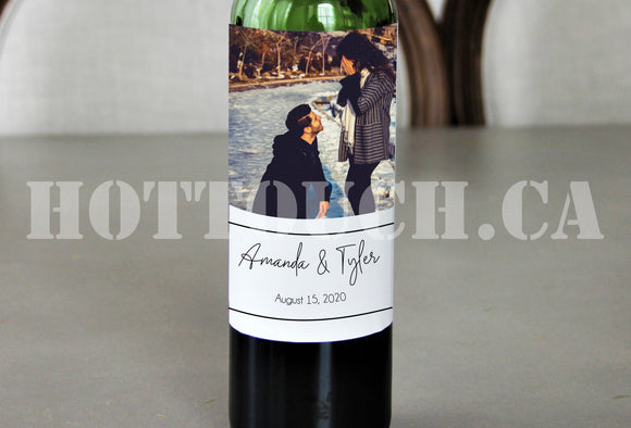 Wedding wine Labels, Photo wine label,Wine label,Wedding wine Favor Labels, Wedding Thank You Favor Label,Personalized wine label WD-WINE-14