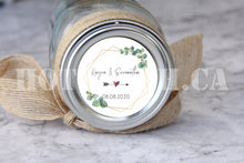 Load image into Gallery viewer, Greenery Wedding Stickers,Wedding Favor Labels,Wedding Favor Stickers,Eucalytus Wedding Favor,Wedding Favors Gold,Rustic wedding WD-BG-25