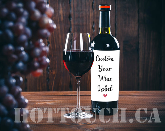 Custom logo wine label,Your design and photo,personalized, made and shipped from Canada