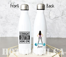 Load image into Gallery viewer, Gym bottle,Personalized gym bottle,Gym hair don't care,Home Gym,Gym quote,Workout quote,Workout bottle,Exercise saying,Straight outta FT