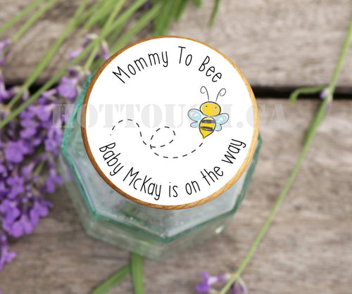 Baby shower labels,Baby announcement sticker,Bee theme,Mommy to be labels,Baby shower favors,baby shower decor,baby on the way BB-BEE-1