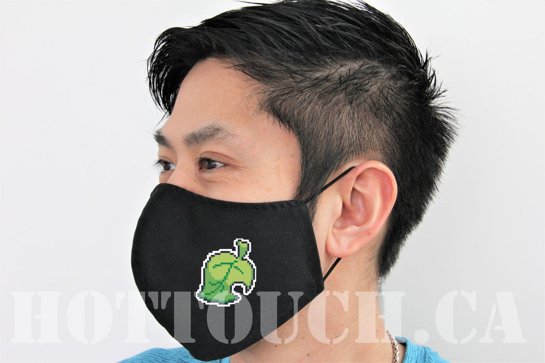 Fabric Face Mask, Leaf, Handmade Cotton Mask, quick production time and ships from Alberta Canada