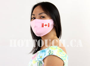 Canadian Flag Mask, Reusable Handmade Fitted Mask Style, quick production time ships from AB Canada