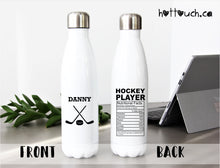 Load image into Gallery viewer, Funny Hockey player Gift,hockey player nutrition fact,hockey bottle,sport bottle,hockey player bottle,hockey nutritional fact bottle OC-HC-3