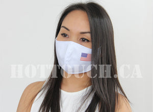 USA flag Face Mask, Reusable Handmade Fitted Mask Style, quick production time