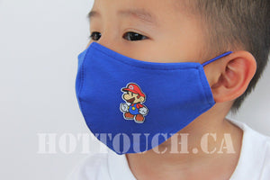 Kid Fabric Face Mask, Handmade Fitted Mask Style, quick production time and ships from Alberta Canada