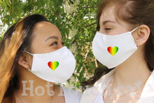 Load image into Gallery viewer, LGBTQ Pride Fabric face mask, cotton face Mask, 100% cotton, quick production time and ships from Alberta Canada