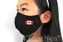 Load image into Gallery viewer, Canada flag face mask for kid,Kid Fabric Face Mask, Handmade Fitted Mask Style, quick production time and ships from Alberta Canada