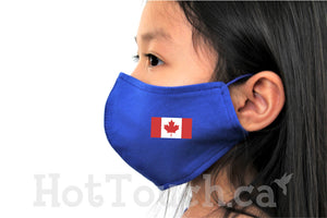 Canada flag face mask for kid,Kid Fabric Face Mask, Handmade Fitted Mask Style, quick production time and ships from Alberta Canada