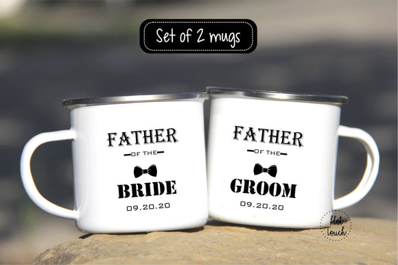 Father of the Groom,Father of the Bride,Wedding Gift for the Fathers,Wedding planning mugs,Campers Mug for dad,Enamel Camp Mug,mug WD-FF-005