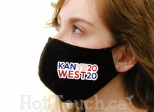 Load image into Gallery viewer, Kanye West 2020 face mask, Cotton mask face, Handmade Cotton Mask, quick production time and ships from Alberta Canada FY-ME-017